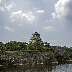 Osaka Castle by Square Frame (Johnnie Shene Photography(Thanks, 1Million+ Views)) Tags: trip travel people holiday colour macro building castle tourism japan clouds canon square lens wonder photography eos japanese rebel dc pond focus scenery kiss exterior place image fort outdoor no famous scenic sigma tranquility landmark artificial scene structure manmade destination osaka tall 1770 kansai fortress tranquil cloudscape built attraction freshness foreground overseas osakajo  x6 fragility 284  650d t4i 1770mm f284