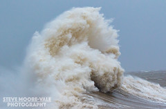 Wave Impact at Porthcawl (Steve Moore-Vale) Tags: uk sea storm wales whitewater waves cymru windy impact gusty swell 10m hightide bridgend porthcawl gust 50mph clodagh strongwind stormclodagh