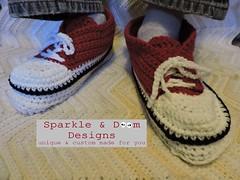blog2015.12.01 ph05 (zreekee) Tags: canada crochet sneakers saskatchewan slippers sparkledoomdesigns