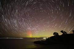 Aurora Australis trails (TassieJohn) Tags: aurora australis tasmania australia kingston startrails gimp starstax lightzone south celestial pole derwent