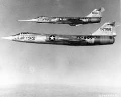 Lockheed F-104 Starfighter: Second and Fourth F-104A  US Air Force photo (San Diego Air & Space Museum Archives) Tags: prototype ge lockheed usaf usairforce generalelectric f104 unitedstatesairforce starfighter lockheedf104starfighter j79 f104starfighter yf104a lockheedf104 lockheedstarfighter gej79 generalelectricj79 yf104 usaf552956 af552956 552956 lockheedyf104astarfighter lockheedyf104a 552958