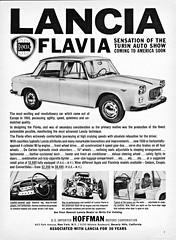 1961 Lancia Flavia  Sedan (U.S. Ad) (aldenjewell) Tags: sedan us ad flavia 1961 lancia hoffman
