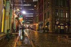 Rainy Cobblestone street in New York (Lojones13) Tags: street urban newyork rain stone cobblestone