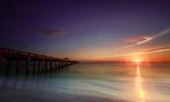 Another Day In Paradise (Haydon L. Hall) Tags: ocean longexposure beach water clouds sunrise sand florida surreal peaceful palmtrees tropical fl jupiter polarizer atlanticocean junobeach gnd leefilters cloudsstormssunsetssunrises