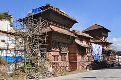 earthquake damaged Durbar Square (davidparratt) Tags: kathmandu durbarsquare basantapurtower nepal earthquake