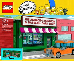 The Android's Dungeon & Baseball Card Shop (Adeel Zubair) Tags: lego the simpsons androids dungeon baseball card shop moc render mecabricks blender photoshop adobe illustrator gabriele zannotti graphic design product legocreation 20th century fox homer bart marge comic book radioactive marcos bessa designer