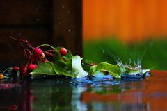 Summer rain (k.vorobyovax) Tags: water rain summer fruit russia canon macro canon600d      nature nice cool life