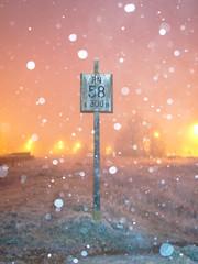 "Pancarte ""PN 58"", n°3 (Loic Frere) Tags: sonya6300 sonyalpha6300 sigma19mm extérieur nuit hiver loiret courtenay signalisation pancarte"