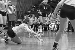 IMG_8373 (SJH Foto) Tags: girls volleyball high school york delone catholic team teen teenager black white blackandwhite bw monocolour dig bump dive burst mode