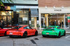Porsche 991 GT3RS Combo - Merry Christmas! (Rivitography) Tags: porsche 991 gt3rs gt3 german exotic car supercar red green greenwich connecticut 2016 canon rebel t3 adobe lightroom rivitography