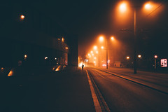 Strasbourg (bruit_silencieux) Tags: strasbourg alsace fog brouillard france city night sony sonya7 street people road mamcs