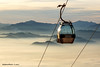 cable car at sunset (Steuch79) Tags: sony alpha sunset fog cable car skylift cableway ropewat a68