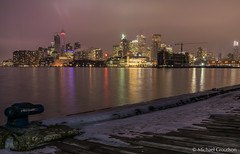 Low Clouds over Toronto (michaelcroudson) Tags: harbour cityscape cityatnight nightscape winter colour