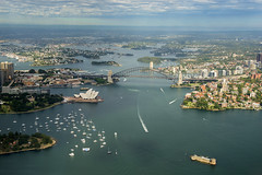 Sydney from the Air (Tracey Whitefoot) Tags: tracey whitefoot 2016 australia sydney aerial air helicopter harbour bridge opera house summer nsw new south wales