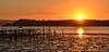 Sunset By The Jetty (Tilney Gardner) Tags: sunset jetty sandbanks poole nikon colours reflection lowtide silhouette dorset seascape harbour boat