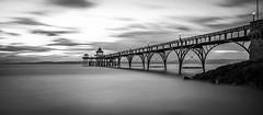 Clevedon Pier (Nathan J Hammonds) Tags: monochrome clevedon pier nikon 10stop nd coast calm sea landscape long exposure