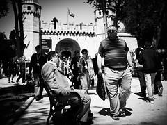 How to shock a Local (Matthias Matula) Tags: istanbul topkapi street candid tourist shocked turkey local sony a6000 blackwhite look 35mm sultanahmet park urban people