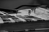 18 ~ 365 (BGDL) Tags: lightroomcc afsnikkor55200mm1456g bgdl high5~365 monochrome nikond7000 blackandwhite readingglasses rayban photographybook