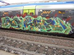 1197 (en-ri) Tags: reser 2016 arrow verde blu train torino graffiti writing