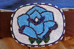buckle (Sautterry) Tags: buckle beltbuckle beadwork beaded americanindian cheyenne blue rose