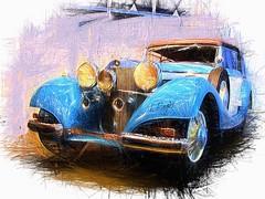 Stuttgart - Mercedes-Benz 540 K (1937) (Frédéric Pagès) Tags: texturing texture mercedes 540k 1937 car mercedesbenz textured soft impressions art digitalart photoshop