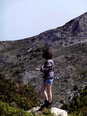circumspection (egotoagrimi) Tags: ikaria ranti randi aegean greece μονοπάτια ικαρία οπσικαρίασ opsikarias circumspection prudence girl hiker cliffs atheras αθέρασ δάσοσράντη