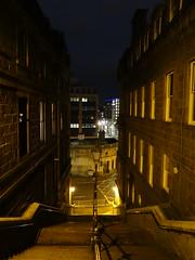 Night in the City (Ian Jackson 1974) Tags: dark shadows steps road lights windows aberdeen scotland city night nightphotography february lamps rooftops sony