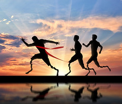 Fulfill Your Purpose in Christ (telephonepsychicreadings) Tags: fulfill life purpose disabled runner prosthesis joggingtrack athletics competition foot track sprinter athlete rivalry physicalfitness training stadium artificialprosthesis power commitment amputation silhouette illustrations health medicine young man people disability distance finish ribbon victory sunset
