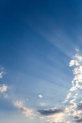 Blue sky and lightrays (ErdenizS) Tags: blue sky clouds light crespuscularrays lightrays canon eos 5d mk2