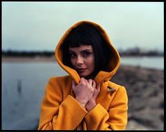 Mellow Yellow (kageaki.s) Tags: woman girl fashion portrait film portraiture tokyo japan grain pentax pentax67 120 medium format mediumformat fujifilm pro400