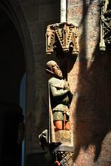 Ulmer Münster kneeler (Erik's pictures) Tags: statue germany churches ulm ulmermünster