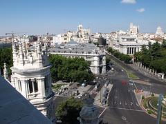 Vistas desde el Palacio de Cibeles (Rafa Gallegos) Tags: madrid city espaa spain ciudad ayuntamiento ayuntamientodemadrid palaciodecibeles