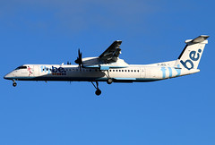 G-JECL (GH@BHD) Tags: aircraft aviation bee be airliner turboprop bombardier dehavilland flybe georgebest dasheight bhd dhc8 logojet belfastcityairport dhc8402q specialcolours gjecl