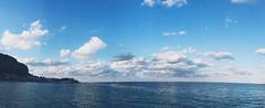 blue sky, blue sea. (mgsilmarie) Tags: blue sea sky clouds landscape italia mare palermo golfo mondello