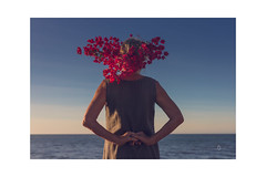 Looking at the sea-2:7 (carloscazorla1) Tags: flores mar conceptual airelibre