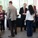 Folks enjoy refreshments and fellowship after the Chancellor's Fall Forum at Talley.