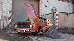 DSC_0173 (lukasz_sochacki) Tags: girl rockabilly rapid garde 136 skoda cargirl pinupgirl skodarapid