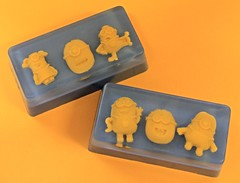 Mini Minions Bar $3.00 (Clelian Heights) Tags: soaps minions unscented decorativesoaps despicableme cleliansoaps cleliancenter