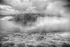 The Hornblower (Kevin. B.) Tags: blackandwhite newyork canada water clouds niagarafalls waterfalls maidofthemist horseshoefalls americanfalls tourboat hornblower stlaurenceseaway canoneos5dmarkii