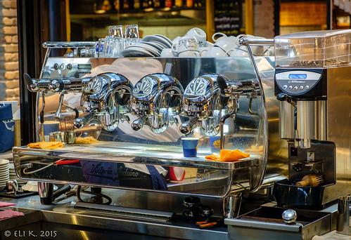 Espresso Machine, Sarona Market, Tel Aviv