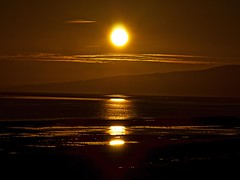 Sun setting over the Solway Firth taken from the public footpath at Newbie near Annan (penlea1954) Tags: sunset sky sun public set evening scotland newbie setting footpath solway firth dumfries galloway