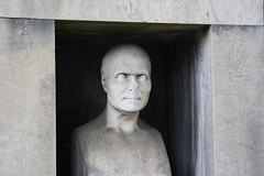 You Already Know What I'm Not Telling You (AAcerbo) Tags: sculpture paris france cemetery grave statue stone bronze canon europe tomb tombstone carving prelachaisecemetery