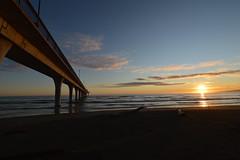sunrise on new brighton beach, christchurch (colinhansen1967) Tags: sun beach water clouds sunrise pier driftwood newbrighton d3200 newbrightonpier tokina111628