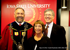2012-09-14 ISU President Steve Leath with Carolyn Feamster and 1962 AHS Alum Scott Feamster at President Leaths installation in Ames Iowa (ameshighschool) Tags: president iowa installation ames isu alumni 2012 alum leath iowastateuniversity amesiowa feamster ameshighschool scottfeamster 2012sep ameshighschoolalumniassociation 1962ahs ahs1962 ameshighclassof1962 steveleath