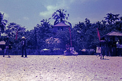 Palm Beach (Qld) SLSC instructional tour to Bali - Waja SLSC clubhouse, Kuta Beach, Bali, Indonesia, September 1977 - Photo by John McPherson 11-14-2015_10a (john.robert_mcpherson) Tags: life bali beach club surf palm qld saving 1977 clubhouse waja