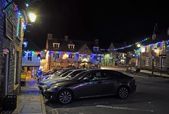 Dorset after dark (dawn.v) Tags: uk england nikon december village christmaslights christmasdecorations dorset corfe parkedcars afterdark 2015 dorsetafterdark