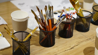 Art Supplies Provided for Workshop