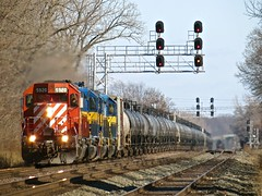 Norfolk Southern Chicago Line / MP 482 Westbound (codeeightythree) Tags: ethanol porterindiana unittrain norfolksouthernrailroad norfolksouthernchicagoline tankcartrain