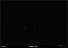Aldebaran in Taurus (Myrialejean) Tags: sky night stars star cluster astrophotography astronomy taurus constellation celestial ain aldebaran sigma105mm astrometrydotnet:status=solved ngc1647 astrometrydotnet:id=nova1343586 hyadum