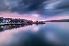 Lovely Sunrise (Me_eky) Tags: trees winter sky house france water clouds nikon maisons ciel arbres nuages parisian d800 hivers parisien chamouille lacdailette